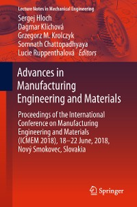 Cover Advances in Manufacturing Engineering and Materials