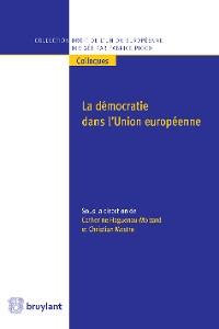 Cover La démocratie dans l'Union européenne