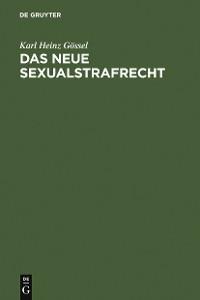 Cover Das neue Sexualstrafrecht