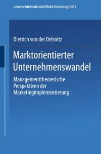 Cover Marktorientierter Unternehmenswandel