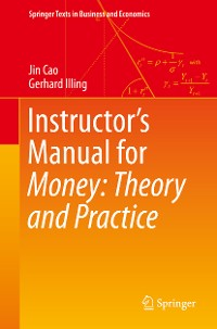 Cover Instructor's Manual for Money: Theory and Practice