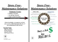 Cover Stress Free Maintenance Solutions