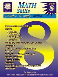 Cover Math Skills, Grade 8