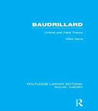 Cover Baudrillard (RLE Social Theory)