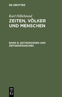 Cover Zeitgenossen und Zeitgenössisches