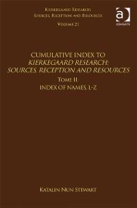 Cover Volume 21, Tome II: Cumulative Index