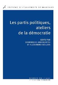 Cover Les partis politique, ateliers de la démocratie