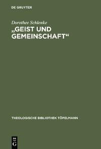 """Cover """"Geist und Gemeinschaft"""""""