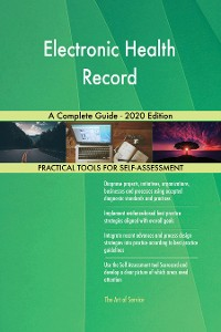 Cover Electronic Health Record A Complete Guide - 2020 Edition