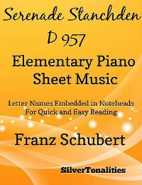 Cover Serenade Number 4 Standchen D957 Elementary Piano Sheet Music