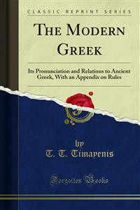 Cover The Modern Greek