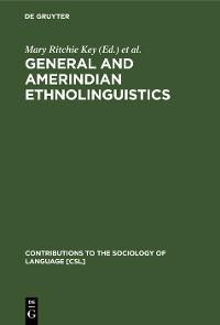 Cover General and Amerindian Ethnolinguistics