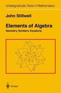 Cover Elements of Algebra
