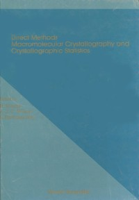 Cover Direct Methods, Macromolecular Crystallography And Crystallographic Statistics - Proceedings Of Winter School