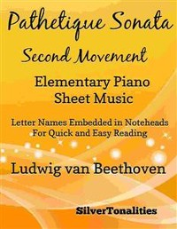Cover Pathetique Sonata Second Movement Elementary Piano Sheet Music