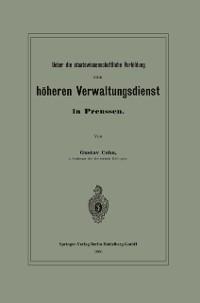 Cover Ueber die staatswissenschaftliche Vorbildung zum hoheren Verwaltungsdienst in Preussen