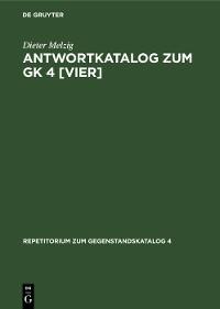 Cover Antwortkatalog zum GK 4 [vier]