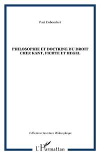 Cover Philosophie et doctrine du droit chez ka