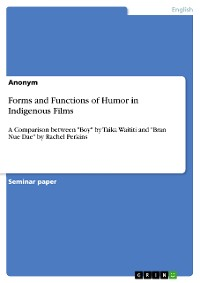 Cover Forms and Functions of Humor in Indigenous Films