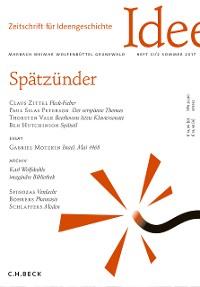 Cover Zeitschrift für Ideengeschichte Heft XI/2 Sommer 2017