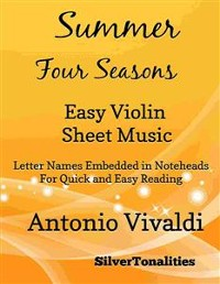 Cover Summer the Four Seasons Easy Violin Sheet Music