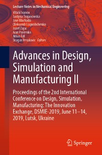 Cover Advances in Design, Simulation and Manufacturing II