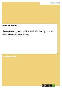 Cover Auswirkungen von Kapitalerhöhungen auf den Shareholder Value