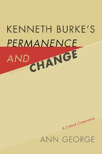 Cover Kenneth Burke's Permanence and Change
