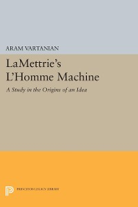 Cover LaMettrie's L'Homme Machine