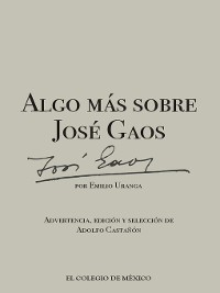 Cover Algo más sobre José Gaos
