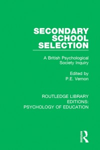 Cover Secondary School Selection