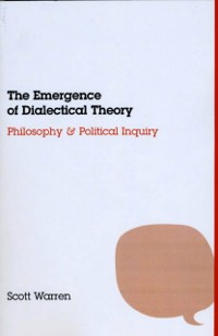 Cover Emergence of Dialectical Theory