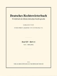 Cover Deutsches Rechtswörterbuch
