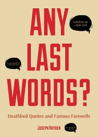 Cover Any Last Words?