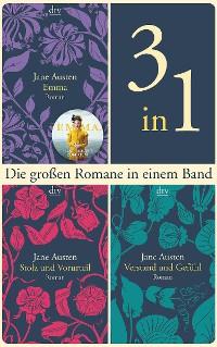 Cover Die großen Romane Emma - Stolz und Vorurteil - Verstand und Gefühl