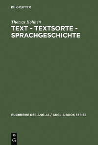 Cover Text – Textsorte – Sprachgeschichte