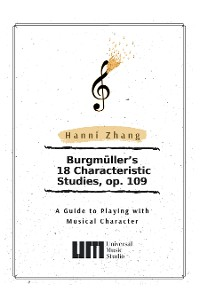 Cover Burgmüller's 18 Characteristic Studies, Op. 109
