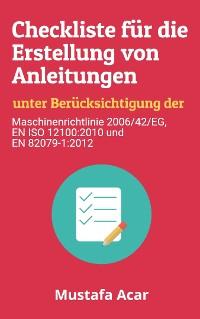 Cover Checkliste für die Erstellung von Anleitungen