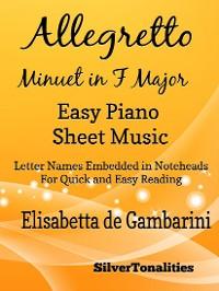 Cover Allegretto Minuet in F Major Easy Piano Sheet Music