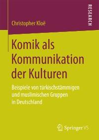 Cover Komik als Kommunikation der Kulturen