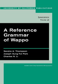 Cover A Reference Grammar of Wappo