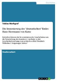 """Cover Die Inszenierung des """"dramatischen"""" Endes Hans Herrmann von Katte"""