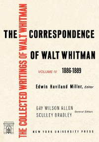 Cover The Correspondence of Walt Whitman (Vol. 4)