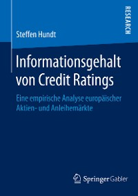 Cover Informationsgehalt von Credit Ratings