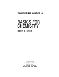 Cover Transparency Masters for Basics for Chemistry