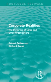 Cover Corporate Realities (Routledge Revivals)