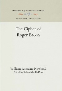 Cover The Cipher of Roger Bacon