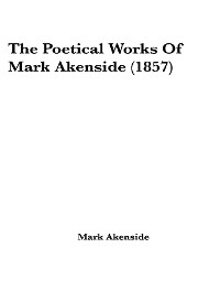 Cover The Complete Poetical Works of Mark Akenside
