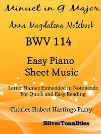 Cover Minuet in G Major BWV 114 Anna Magdalena Beginner Piano Sheet Music
