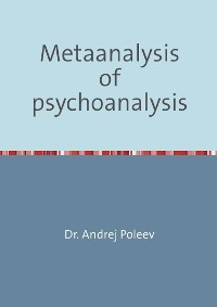 Cover Metaanalysis of psychoanalysis
